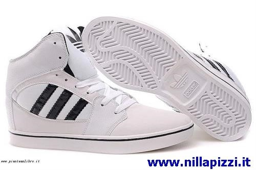 adidas bianche righe nere