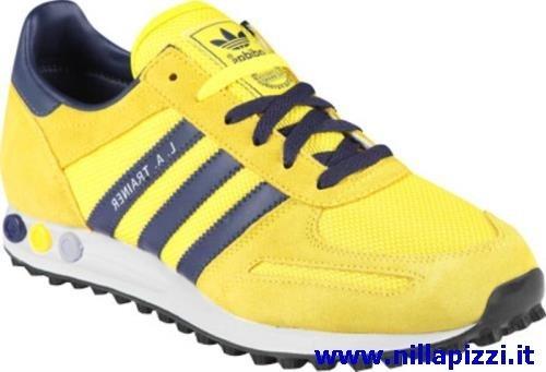 adidas trainer blu e gialle