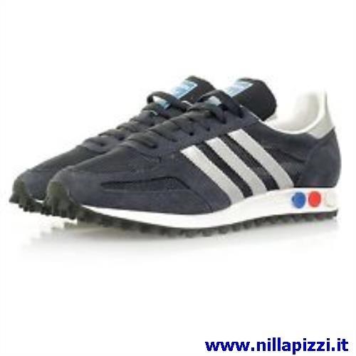 adidas trainer blu e argento