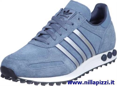 adidas trainer blu argento