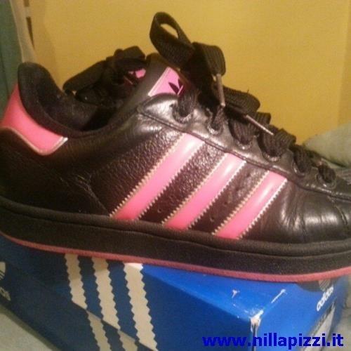 scarpe adidas nere e fucsia