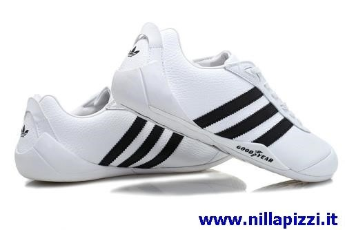 adidas in pelle bianche