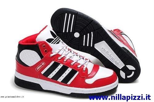 scarpe adidas alte rosse