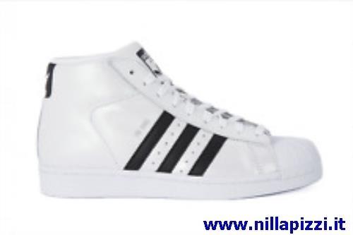 adidas scarpe alte bianche