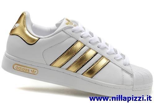 adidas bianche oro