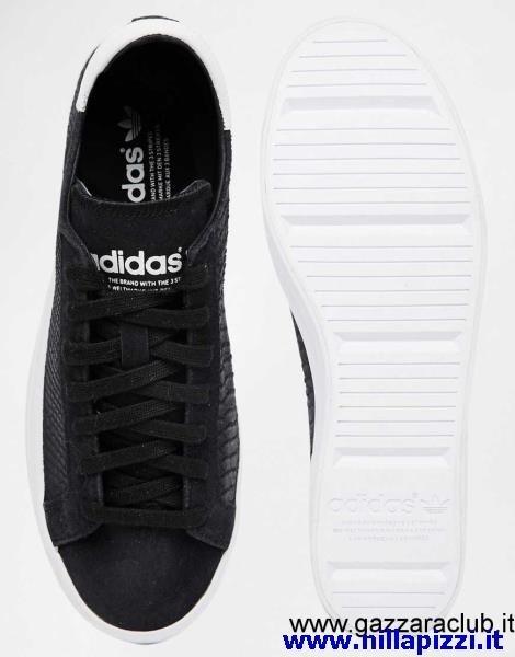 adidas court vantage nere alte