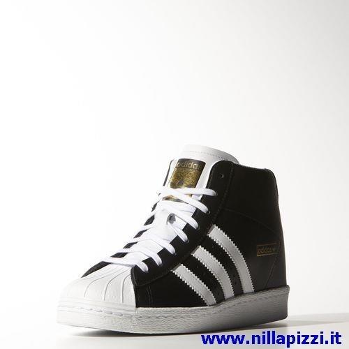 adidas nere e bianche alte