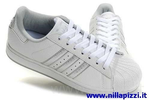 adidas trainer bianche e argento