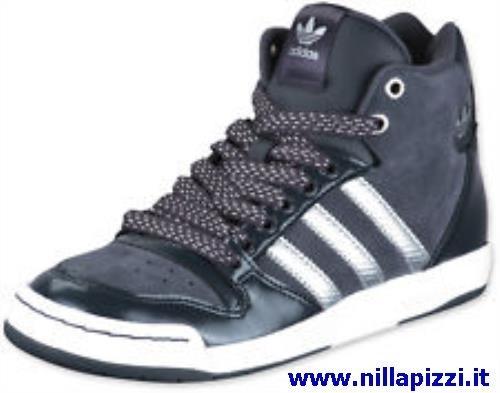 scarpe adidas nere alte