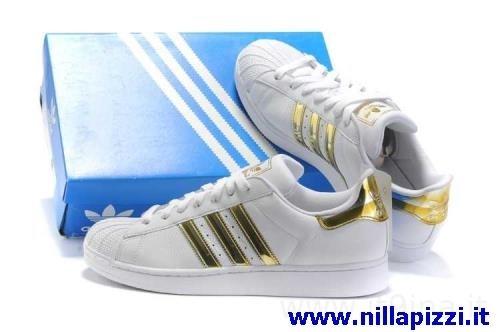 sneakers adidas bianche e oro