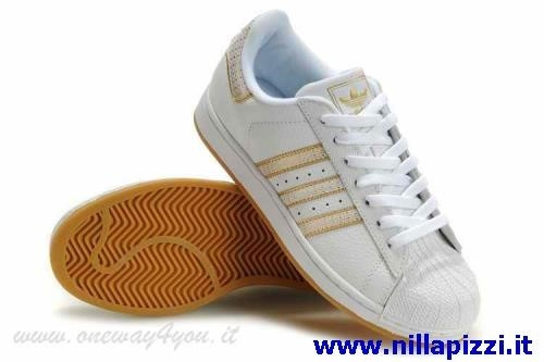 scarpe adidas oro e bianche
