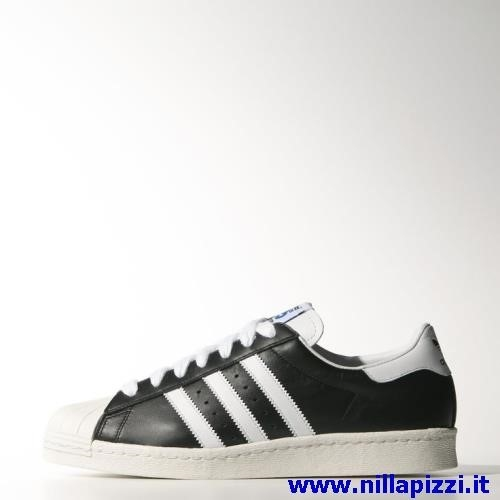 adidas bianche a strisce nere