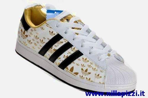 scarpe adidas bianche strisce blu