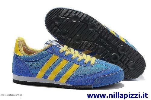 scarpe adidas gialle e blu