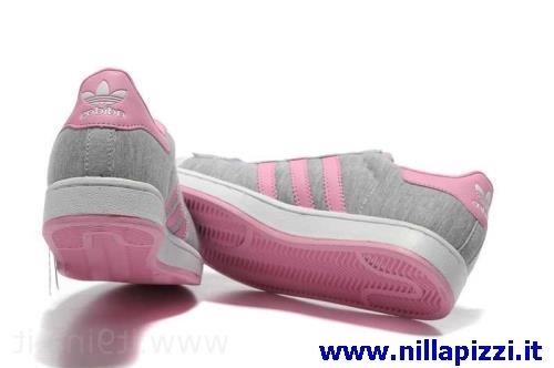 scarpe adidas grigie rosa