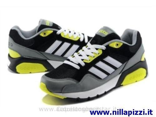 scarpe adidas nere e verdi