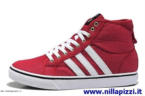 scarpe adidas rosse alte
