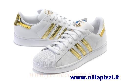 scarpe adidas bianche e oro prezzo