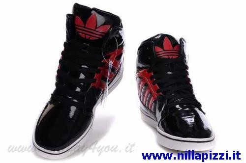 adidas sneakers alte rosse